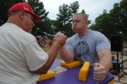 Hominy, Okla., hosted an arm wrestling competition in 2013.