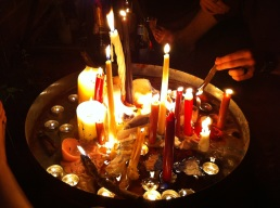 My friend hosted a gipsy party and we brought candles for the communal candle pool.