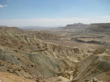 A view of the Sinai wilderness, where the biblical Hebrews are said to have wandered for 40 years after leaving Egypt.