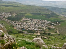 A view of a town from the zealot hideout in central Israel.